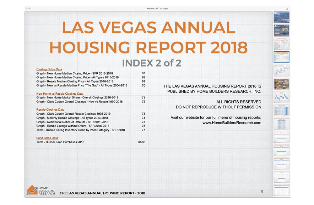 The Las Vegas Annual Housing Report – 2018